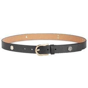 Michael Kors Leather Charm Belt Medium New